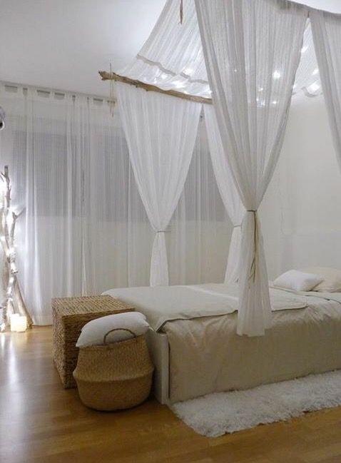 Romantyczne oświetlenie sypialni