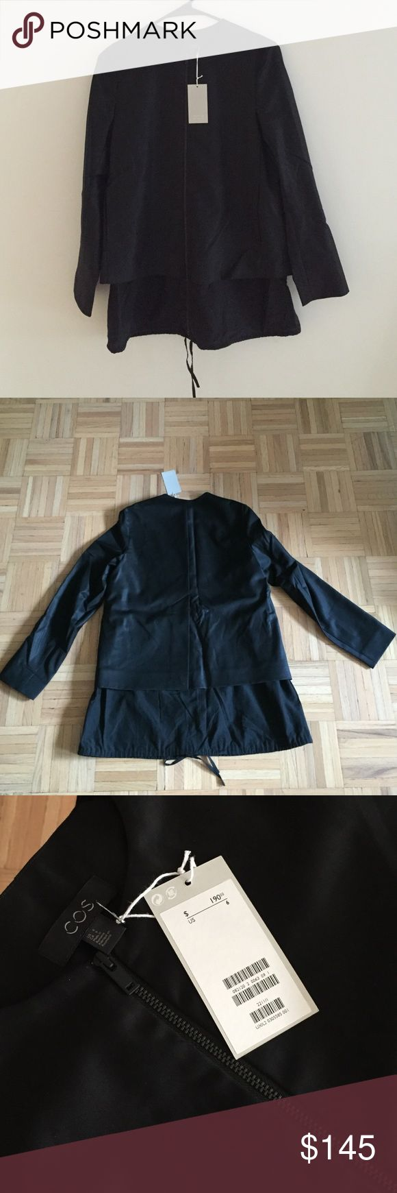 COS black jacket Brand New Cos Jacket! Very lightweight. Shell 100% wool/ lining: 50% cotton, 50% rayon. Like what you see buy or make an offer! COS Jackets & Coats