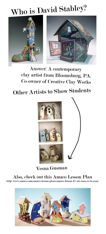 High School Ceramics Lesson // David Stabley inspired houses - definite do!  Great slab unit & art appreciation/artist integration