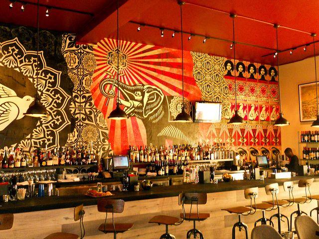 Shepard Fairey (Obey Giant) at Wynwood Kitchen & Bar (Interior Walls), via Flickr.