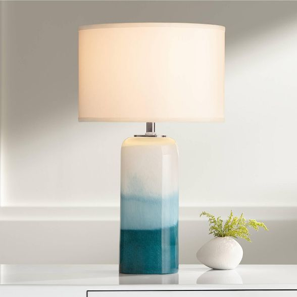 Possini Euro Design Roxanne Blue Art Glass Table Lamp With Led Night Light Target In 2020 Art Glass Table Lamp Glass Table Lamp Table Lamp