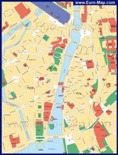 Карта города Цюрих (Швейцария)
