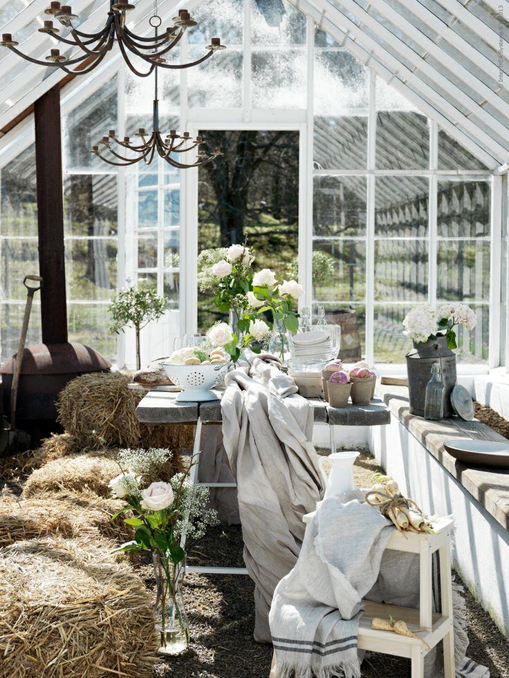 Så vackert, önskar jag hade ett växthus!