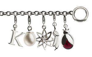TORY & KO Silver Charm Bracelet with charms