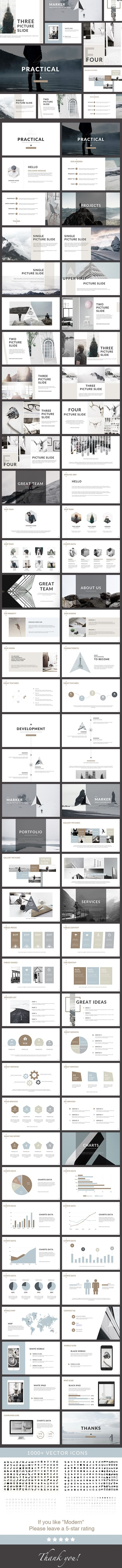 Practical - Clean PowerPoint Presentation Template. Download here…
