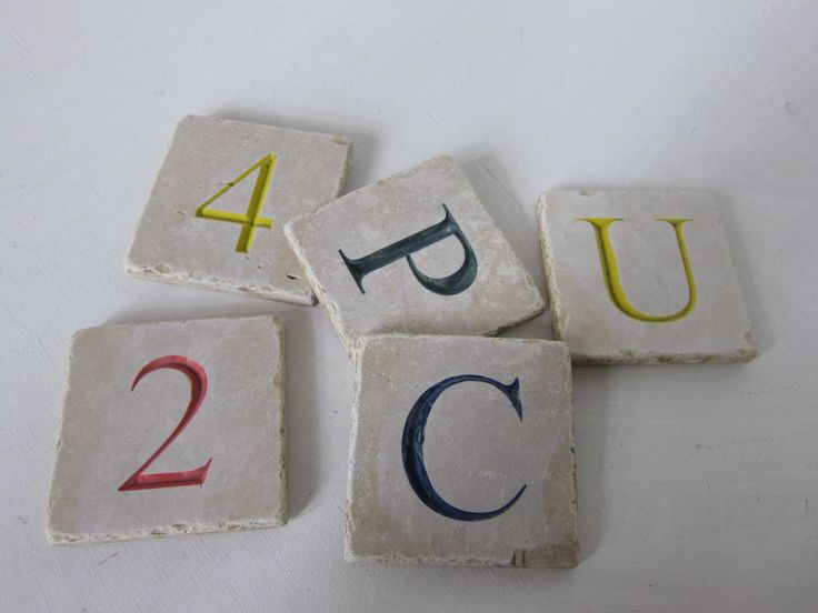 numbers & letters engraving