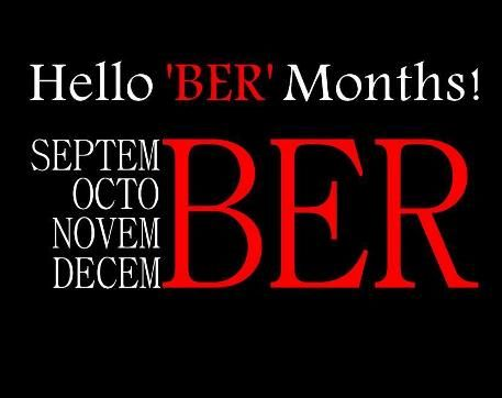 it's the start of the 'BER' months! The Christmas countdown has commenced..