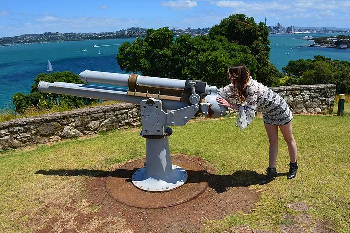 Playing around at North Head, Devonport Auckland.  http://www.life-downunder.com/single-post/2017/01/28/Cheltenham-Beach-and-North-Head