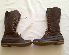 """Vintage Rare LL Bean Maine Hunting Shoe Duck Boots Men's Size 12 M 16 """" Tall"""