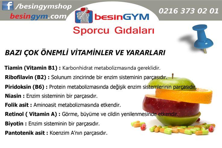 Önemli Vitaminler ve Faydaları