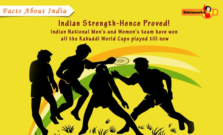 #Facts About India : India has won all 5 Men's Kabaddi #WorldCups held till now and have been undefeated throughout these tournaments. Contrary Indian Women's team have also bagged the crown of all Kabaddi World Cups held till date.