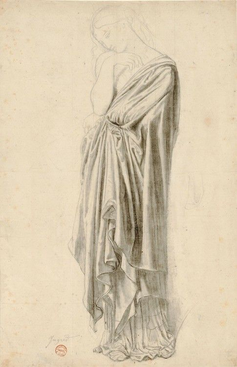 Jean-Auguste-Dominique Ingres    Study for the Figure of Stratonice