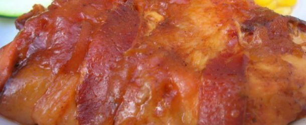 Bricklayer Bacon Wrapped Apple BBQ Chicken – This Recipe's Flavor Combination Is Rock Solid!
