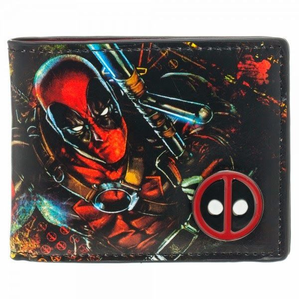 Deadpool Emblem Bi-Fold Metal Badge Wallet - HobbyStuf
