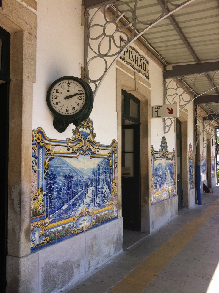 Gare de Pinhao, dans la vallée du Douro