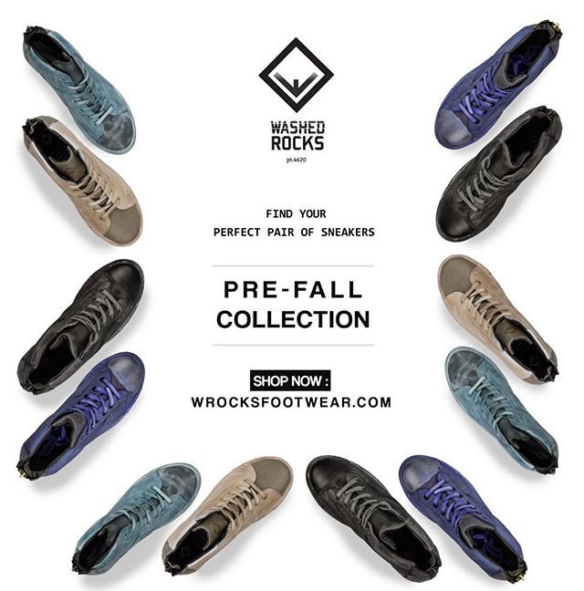 Find your perfect pair of sneakers with Washed Rocks ! SHOP NOW…
