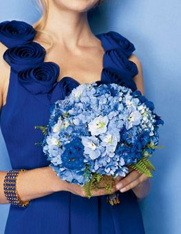 Brides: Wedding Color Scheme: Shades of Blue : Wedding Flowers Gallery