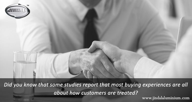 Did you know that some studies report that most buying experiences are all about how customers are treated? At Jindal Aluminium Limited, it is our heartfelt desire to treat every client right and this is why we have a client list that comprises industry giants to small local dealers. It is all about treating every customer with due respect and giving them the requisite time! #JindalAluminiumLimited