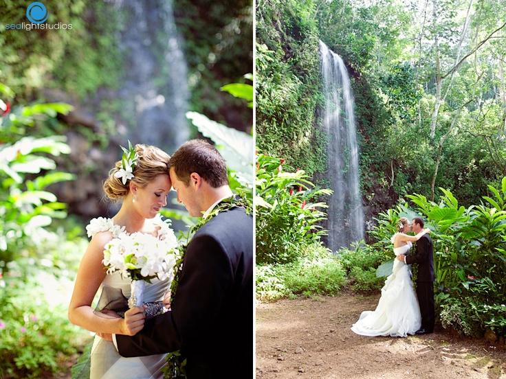 Google Image Result For Sealightstudios Blog Waterfall WeddingKauai WeddingWedding