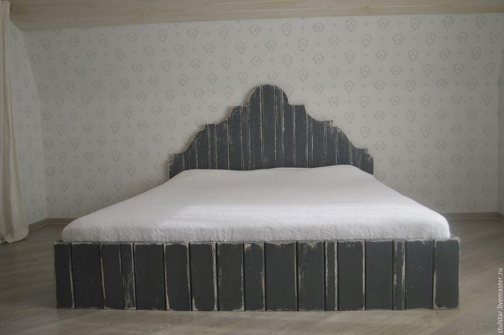 """Купить Кровать """"Шебби"""" - комбинированный, спальня, винтаж, лофт, прованс, шебби шик, шебби"""