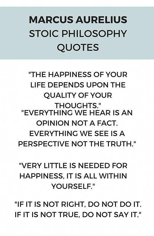 Stoic Philosophy Quote by Marcus Aurelius #stoic …