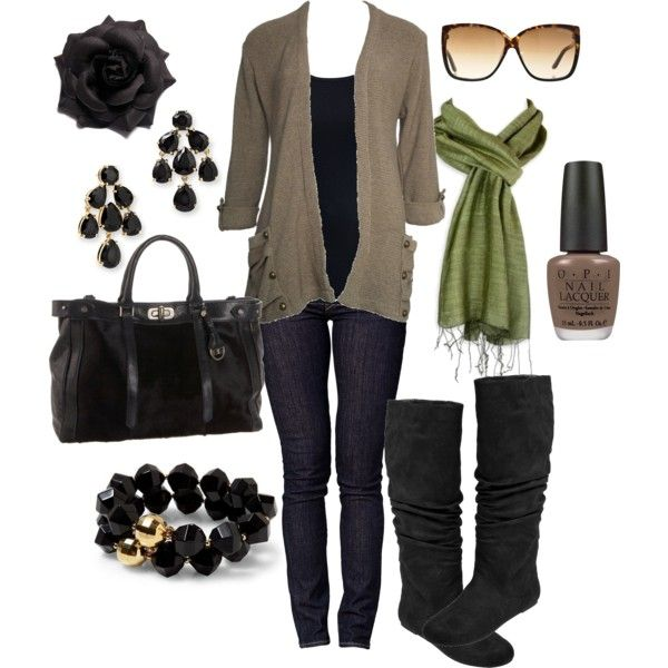 Fun: Casual Outfit, Skinny Jeans, Green Scarves, Fashionista Trends, Fall Outfit, Scarfs, Fashion Fall, Fall Fashion Trends, Grey Boots