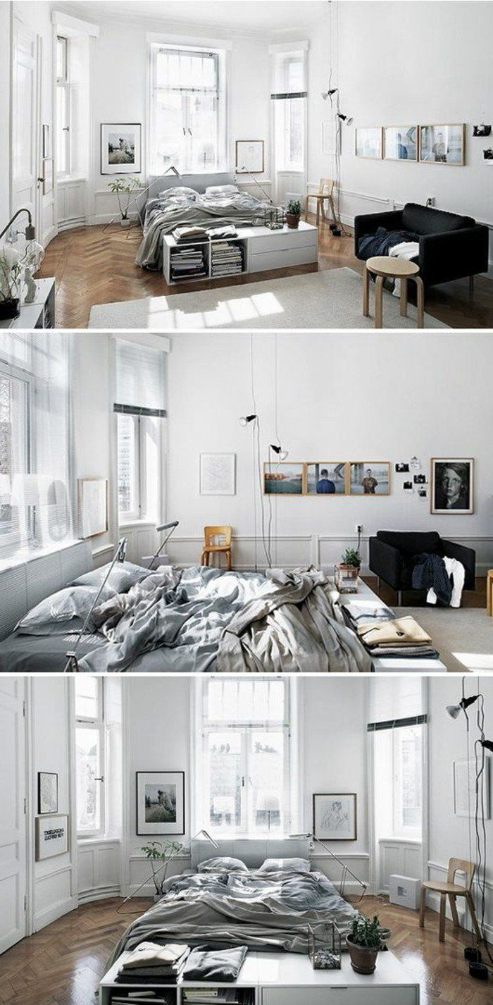 les 25 meilleures id es de la cat gorie id es d co chambre. Black Bedroom Furniture Sets. Home Design Ideas