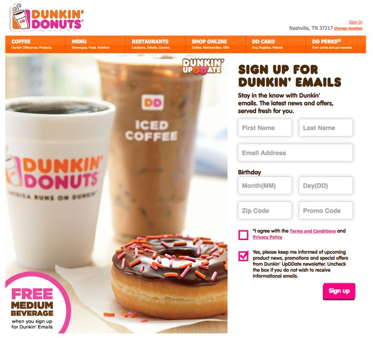 "dunkin donuts marketing strategy Global marketing strategies  name this company's slogan: ""america runs on dunkin"" if you guessed dunkin' donuts, you're correct according to statista, dunkin' donuts makes up roughly 25% of the coffeeshop market share here in the us."