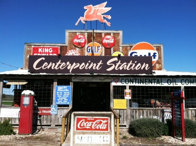 Centerpoint Station San Marcos, Texas - Best burgers ever! Great shopping too! http://www.centerpointstation.com/