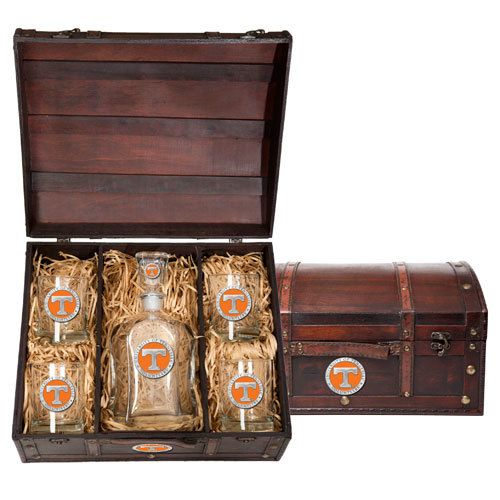 Tennessee Volunteers Decanter Chest Set | Heritage Pewter