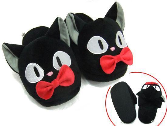 Jiji the cat Plush Slippers Kiki s Delivery Service Studio Ghibli