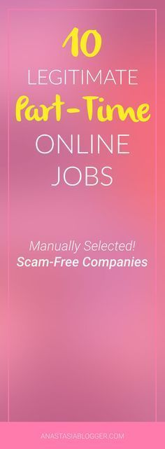 10 Part-Time Online Jobs – Scam-Free Companies