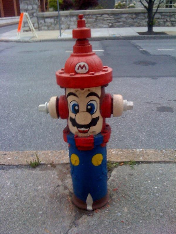 Mario fire hydrant!