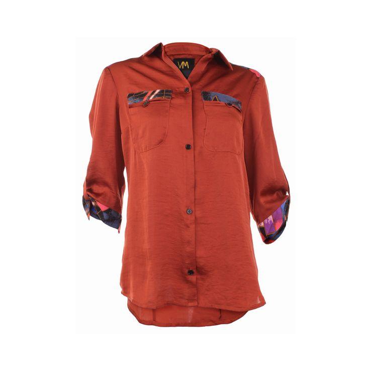 Blusa Canesu Estampado, Vania Milena, $40.000. Blusa de seda con aplicaciones de colores en bolsillos y puños de la blusa, su elegancia y simpleza hace que sea una prenda que puedes ...