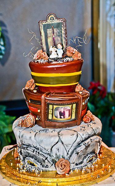 Fairytale Wedding Cake Three Tower