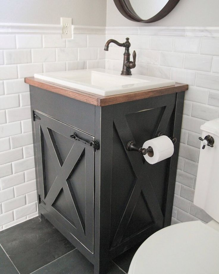 Bathroom Vanity Ideas Pinterest: Bathroom Vanity Farmhouse, Farmhouse Sink Vanity