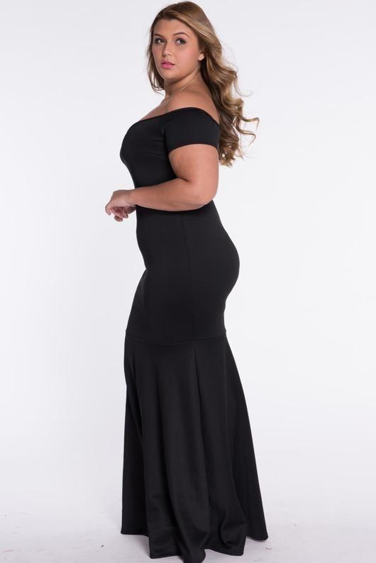 2dfbf940c4c Black plus size maxi dresses at Bling Brides Bouquet - Online Bridal Store