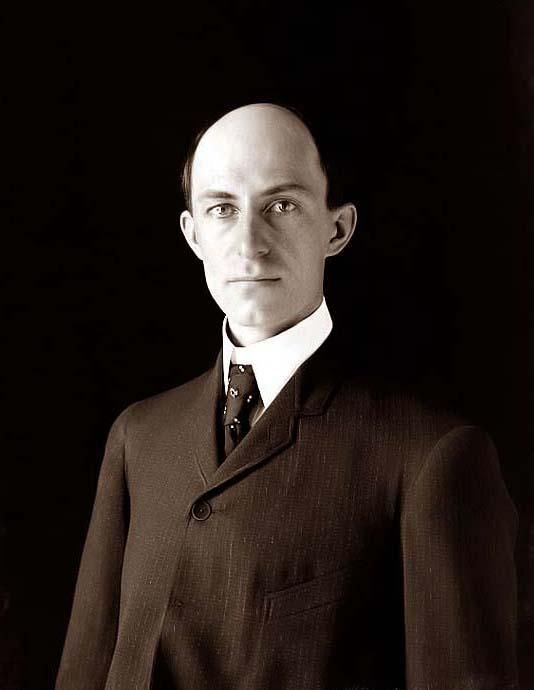 Wilbur Wright, age 38, about 1905; one of the earliest published photographs of him.