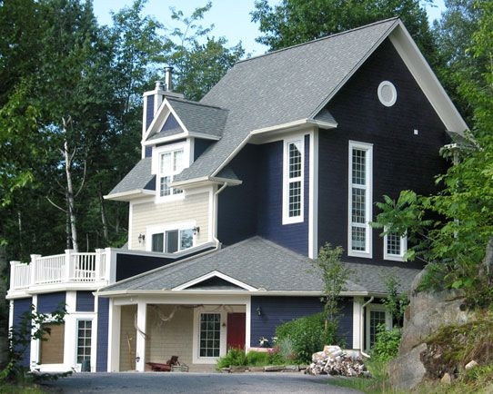 105 best blue houses images on pinterest - Best exterior paint for wood siding ...