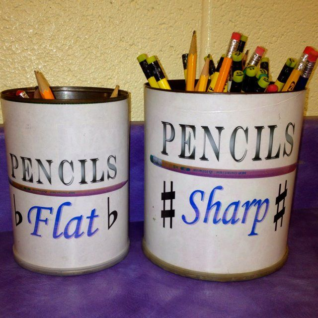 Pencils--sharp and flat (great for a music classroom)