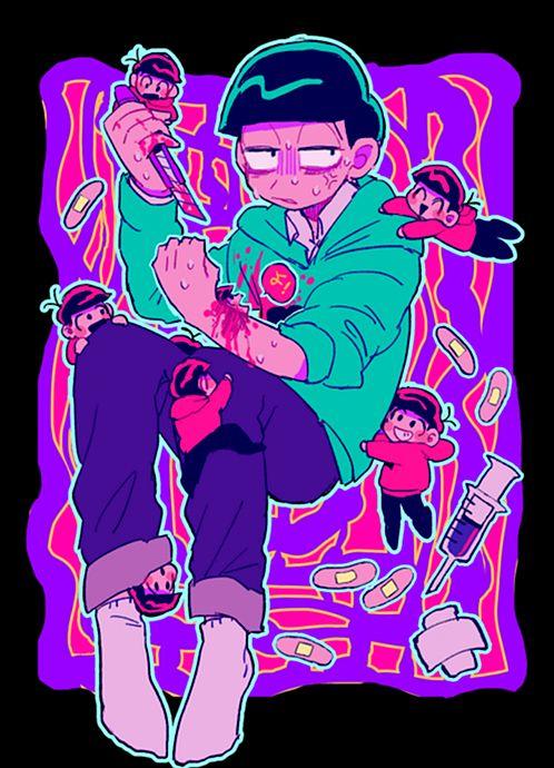 Osomatsu-san- Osomatsu, Karamatsu, Choromatsu, Ichimatsu, Jyushimatsu, and Todomatsu #Anime「♡」#Guro #Dark