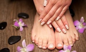 Groupon – Luxe manicure of (duo) pedicure van 30 minuten bij Just Wellness in Ju…