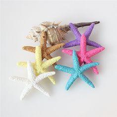 Colorido Estilo Mini Decoración Arte de la Resina Estrellas de Mar Mediterráneo DIY Cabaña de la Playa Decoración De La Boda Decoración Del Hogar