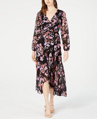 20f1c90b791 Floral-Print Wrap Dress