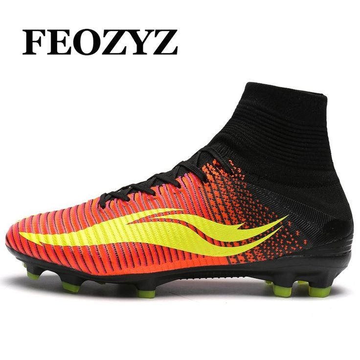 (57.19$)  Know more  - FEOZYZ Men High Ankle Football Boots Pressional FG AG Soccer Shoes Cleats Botas De Futbol Con Tobillera Chuteira Futebol