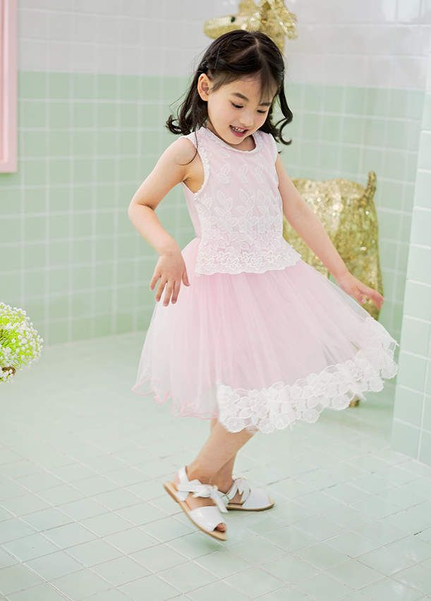 Light Pink Lace Dress Party Dress For