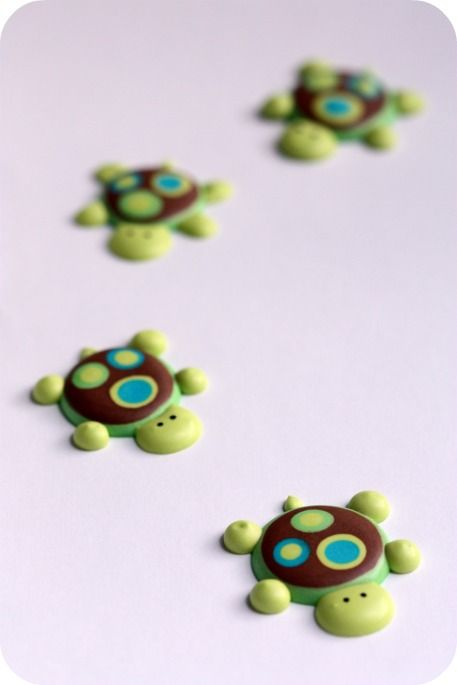 Royal Icing Turtle Toppers