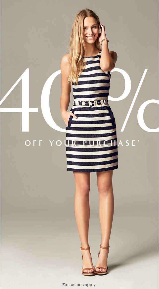 Striped Banana Republic dress