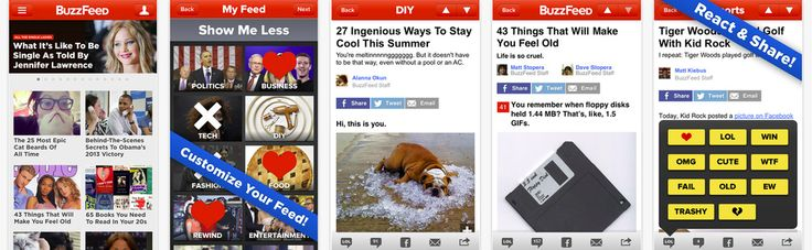 The new BuzzFeed app gives you the news you want now plus the stories that will be on Facebook and Twitter tomorrow. You can customize your feed with only the stuff you want. | BuzzFeed Has A Brand New App