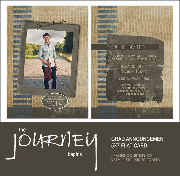 sample open house graduation party invitations%0A Graduation Announcement Template  x   The Journey